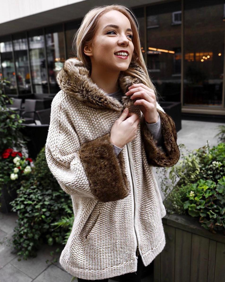 silvergirl faux fur wool coat london winter