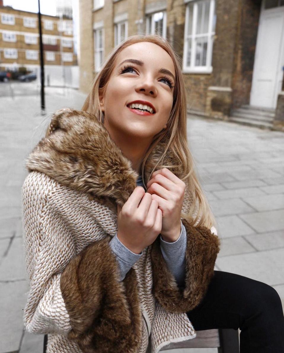 silvergirl happy girl faux fur wool coat