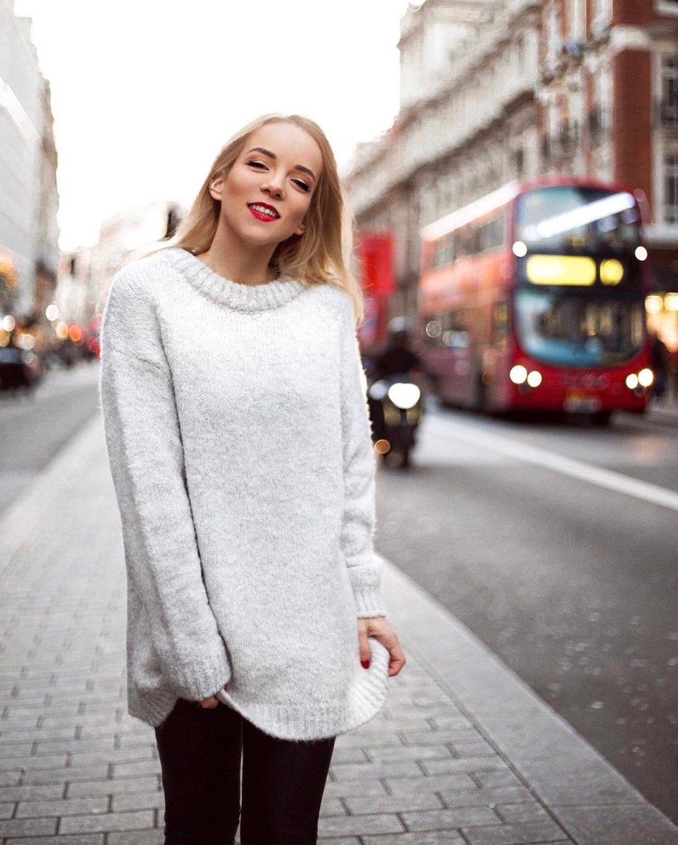 silvergirl london oxford street girl wool sweater