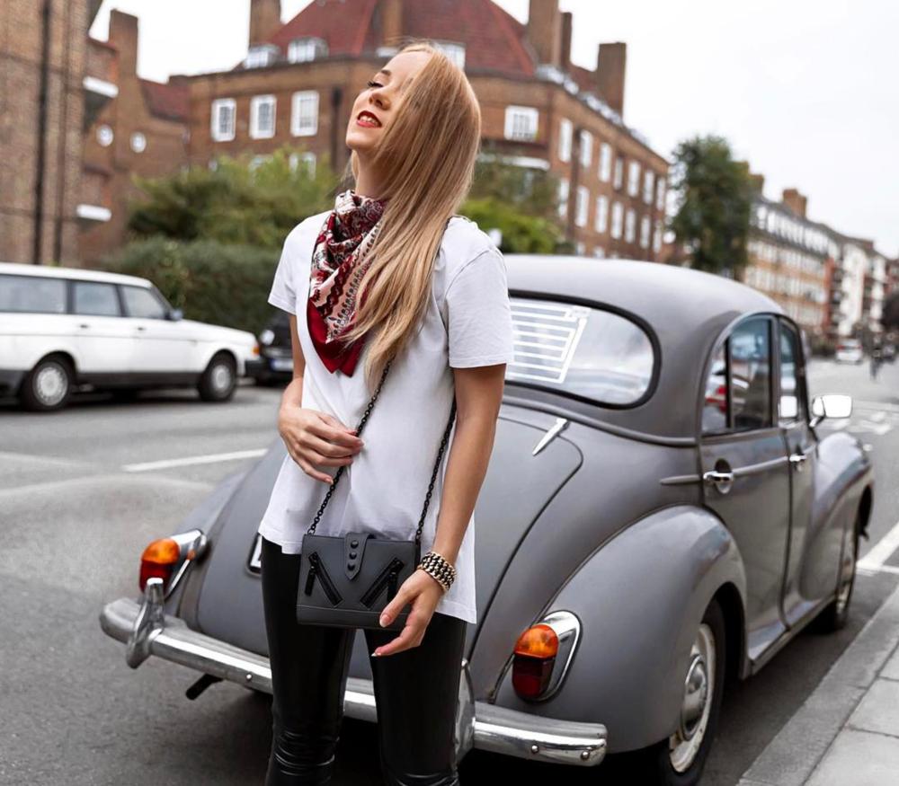 silvergirl rebel vintage leather bandana neck scarf kenzo