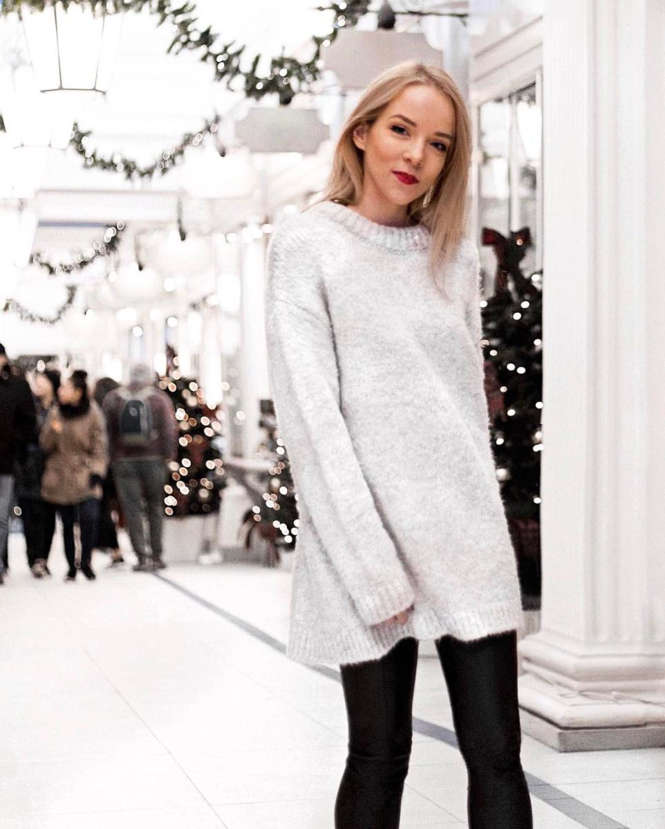 oversized sweater jumper christmas winter holidays