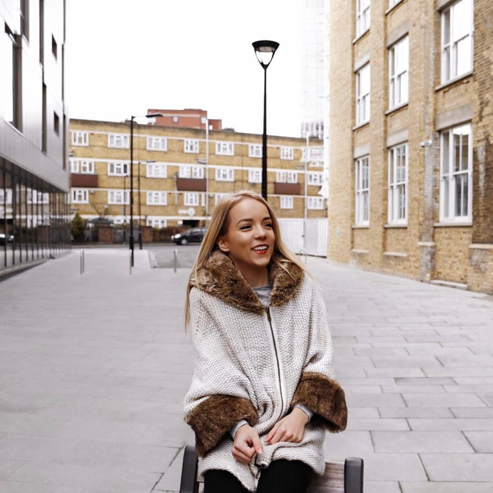faux fur collar winter coat london street style blogger