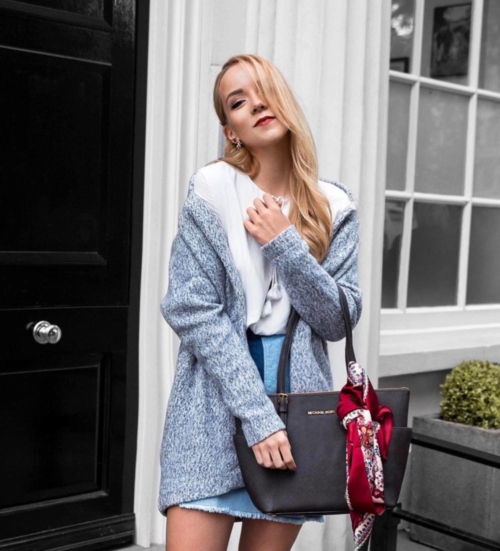 michael kors gucci shoes wool long coat london fashion week streetstyle