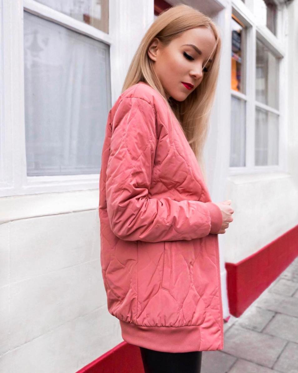 pink adidas bomber jacket