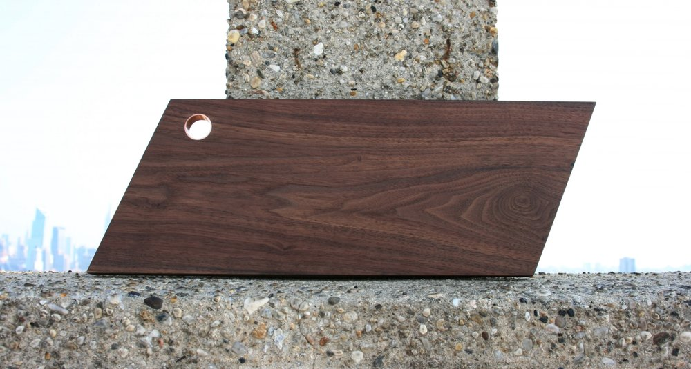 Serving Board American Black Walnut | Copper Detail