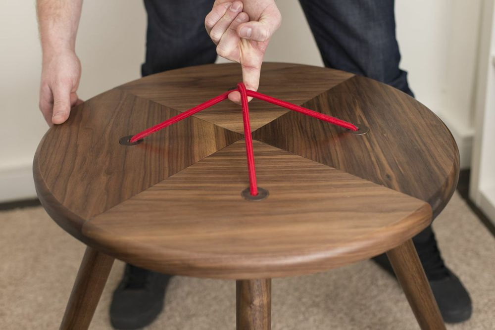 Button Table  Designed for Blu Dot flatpack furniture challenge.
