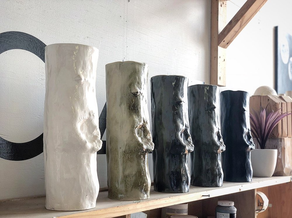Stump Vessel  Slip casted | Porcelain