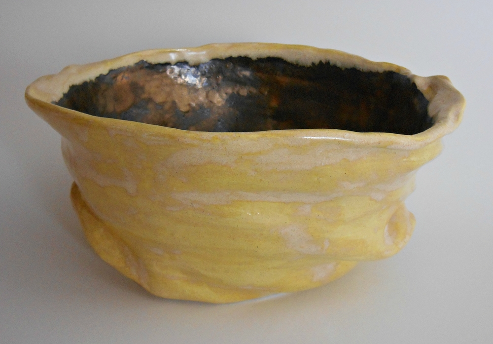 Maggie Minor Designs Gold and Yellow Modern Ceramic Sculpture