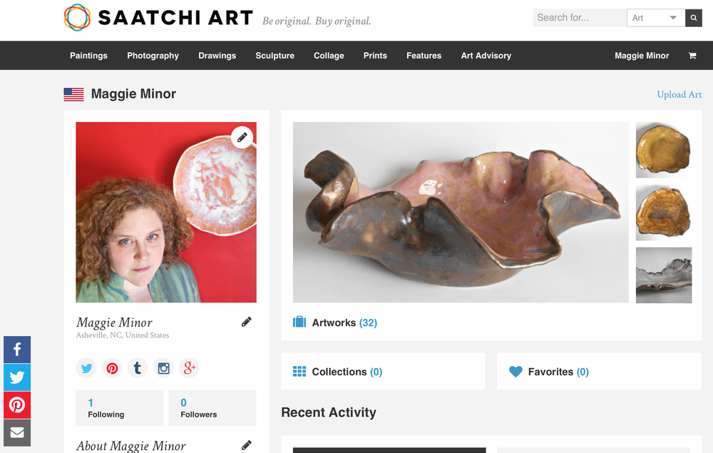 Maggie Minor Designs Modern Ceramic Sculpture on Saatachi Art Online