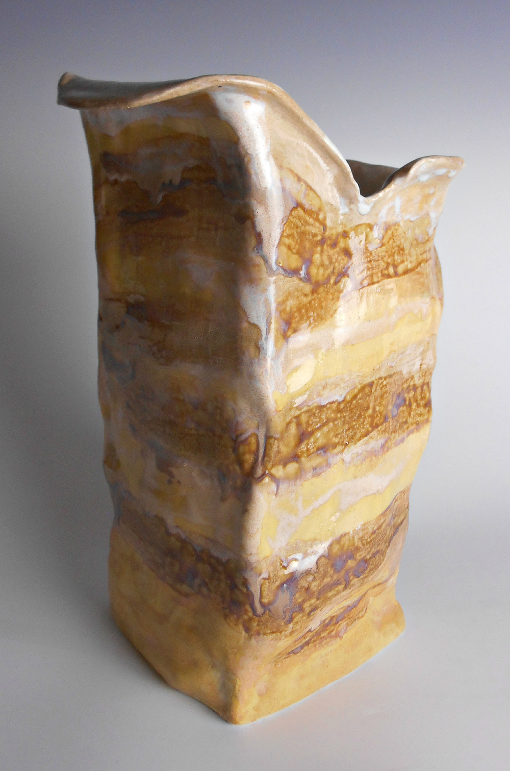 Modern Rustic Ceramic Sculpture Vase by Maggie Minor Designs