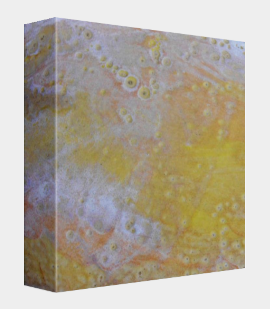 #3 v1 square canvas print