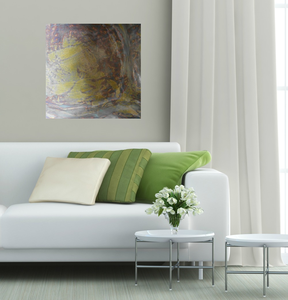 #16 square canvas print