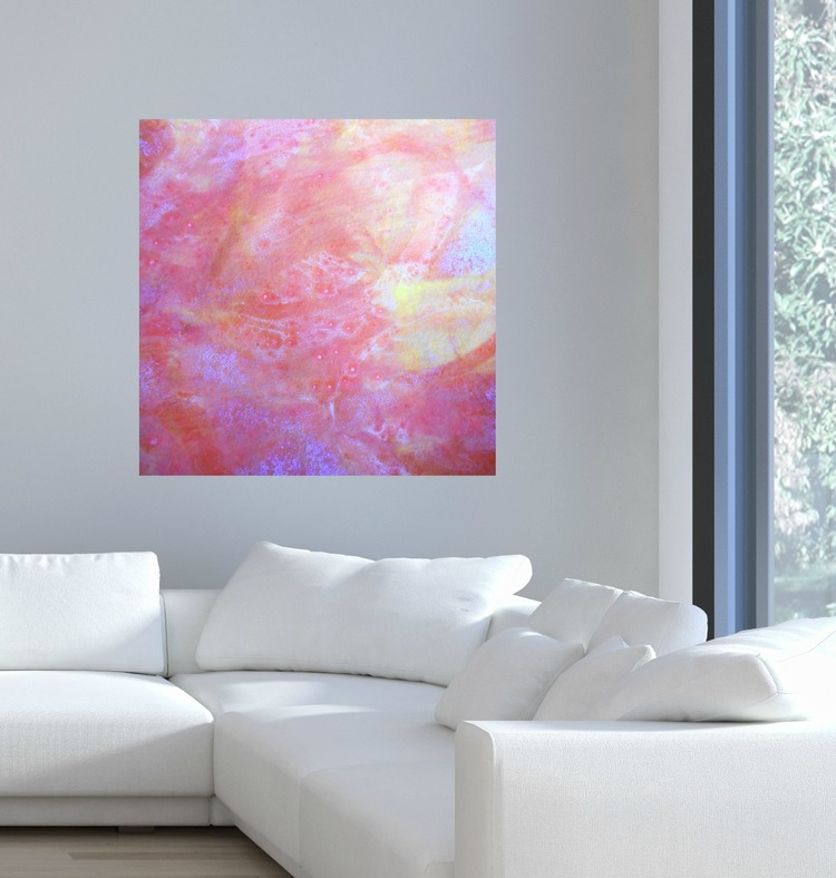 Lively and Brilliant Abstract Square Canvas Print - #5 v1 — Maggie ...