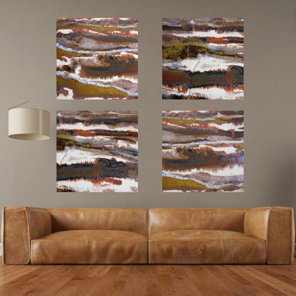 21 & 22. set of square canvas prints