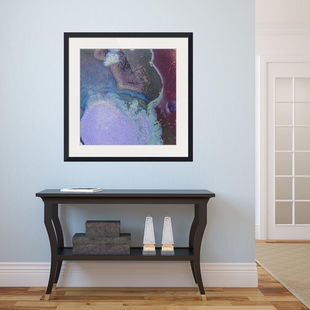 #45 square framed print