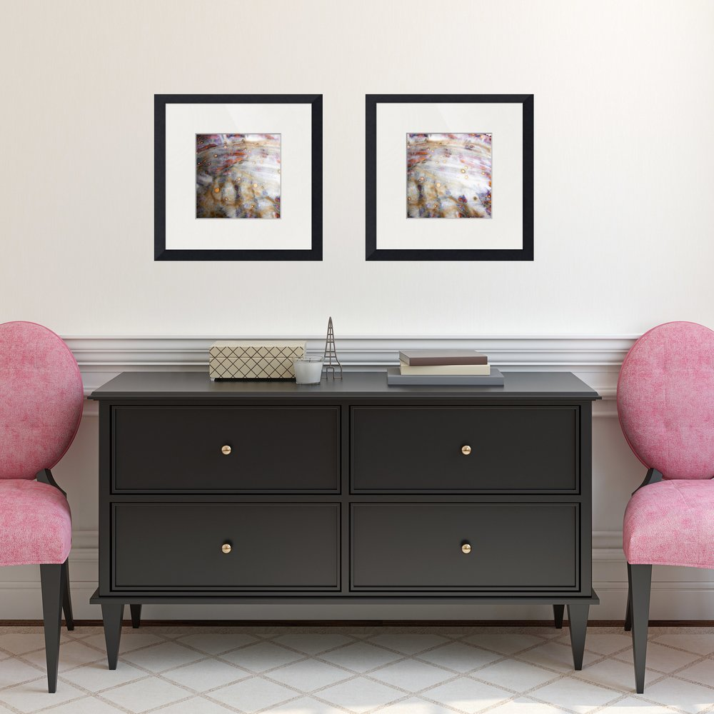 #4 set of square framed prints
