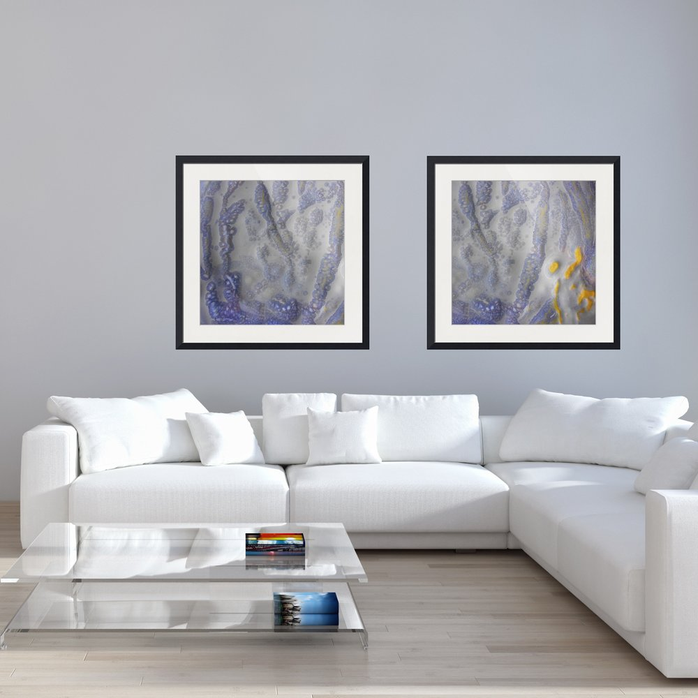 How to arrange abstract framed wall art for fabulous for Living room 4 pics 1 word