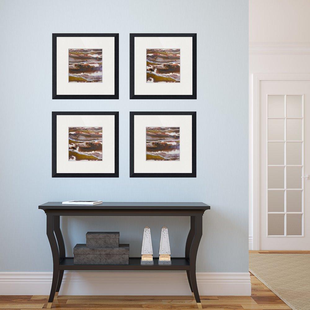 #21 set of square framed prints