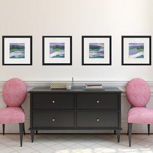 29 30 set of square framed prints