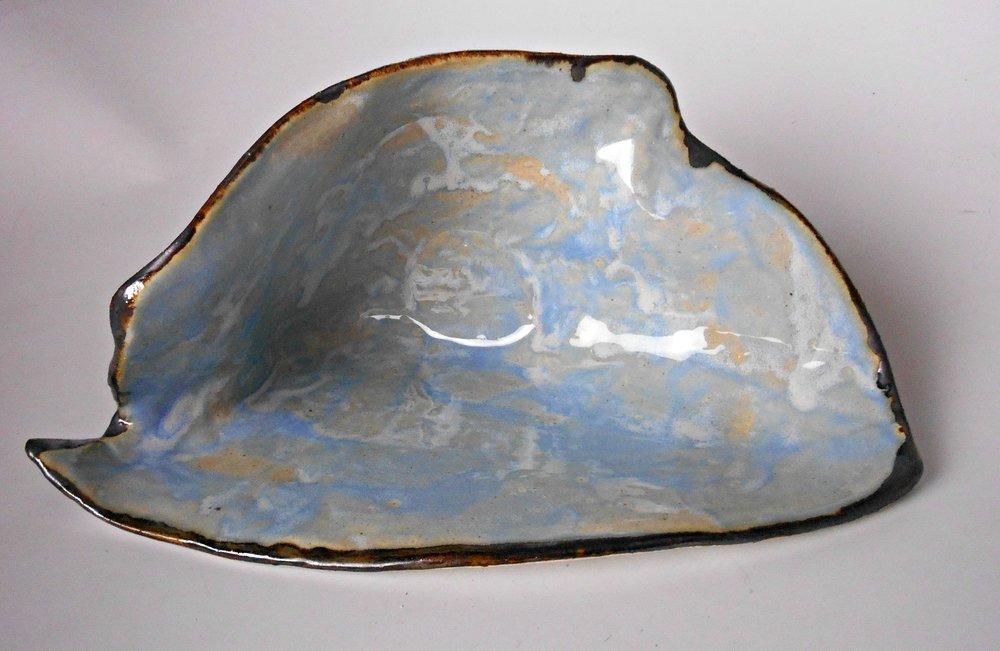 Light Blue Modern Fine Art Shelf Sculpture by Maggie Minor Designs