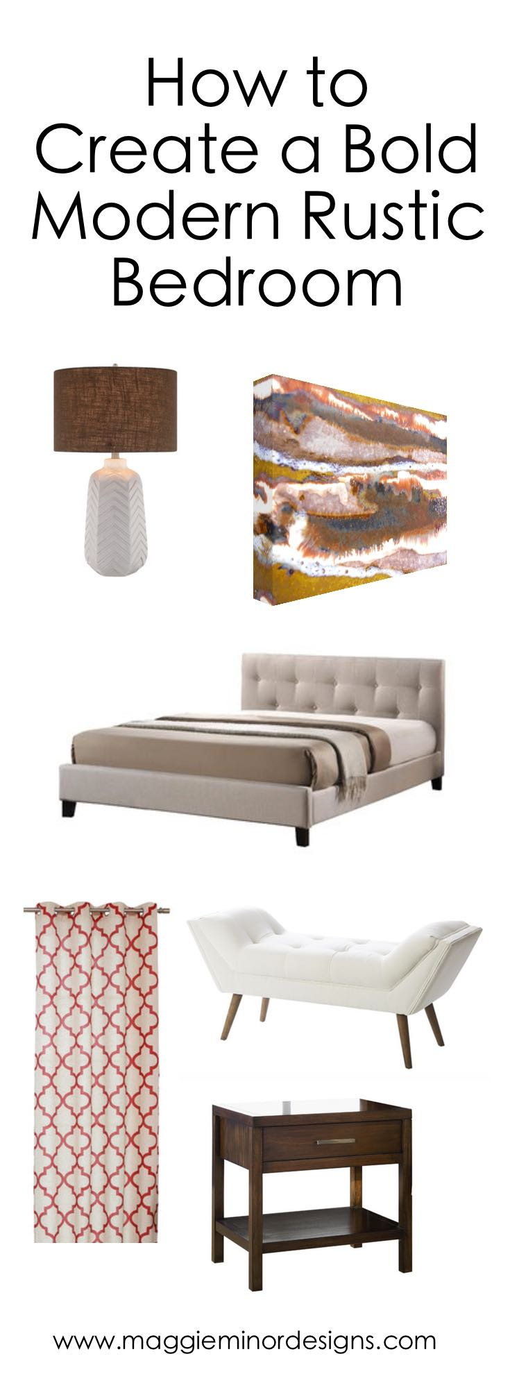 How to Create a Bold Modern Rustic Bedroom Pinterest.png