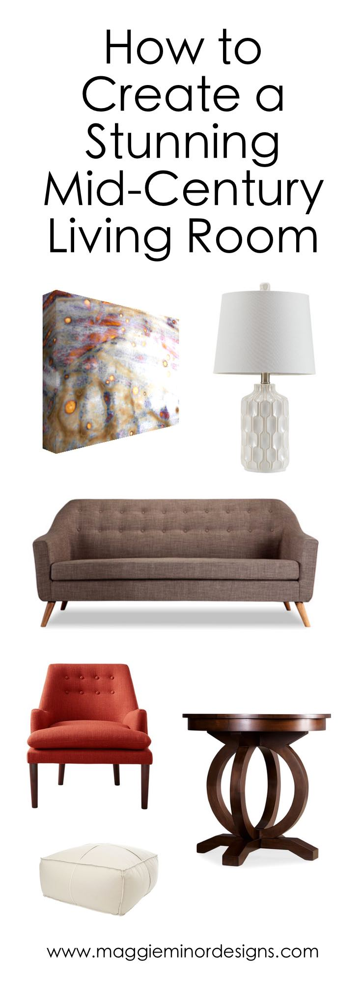 How to Create a Stunning Mid-Century Living Room