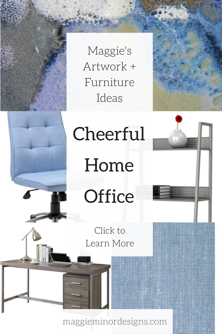 How to Create a Feminine Home Office with Cheerful Artwork — Maggie ...