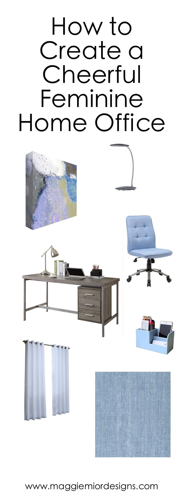 office designscom. Thoughts About This Cheerful Home Office With Feminine Artwork Designscom