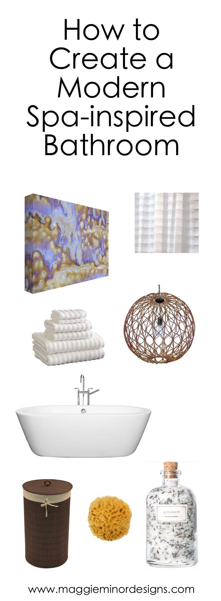 How to Create a Modern Spa Inspired Bathroom