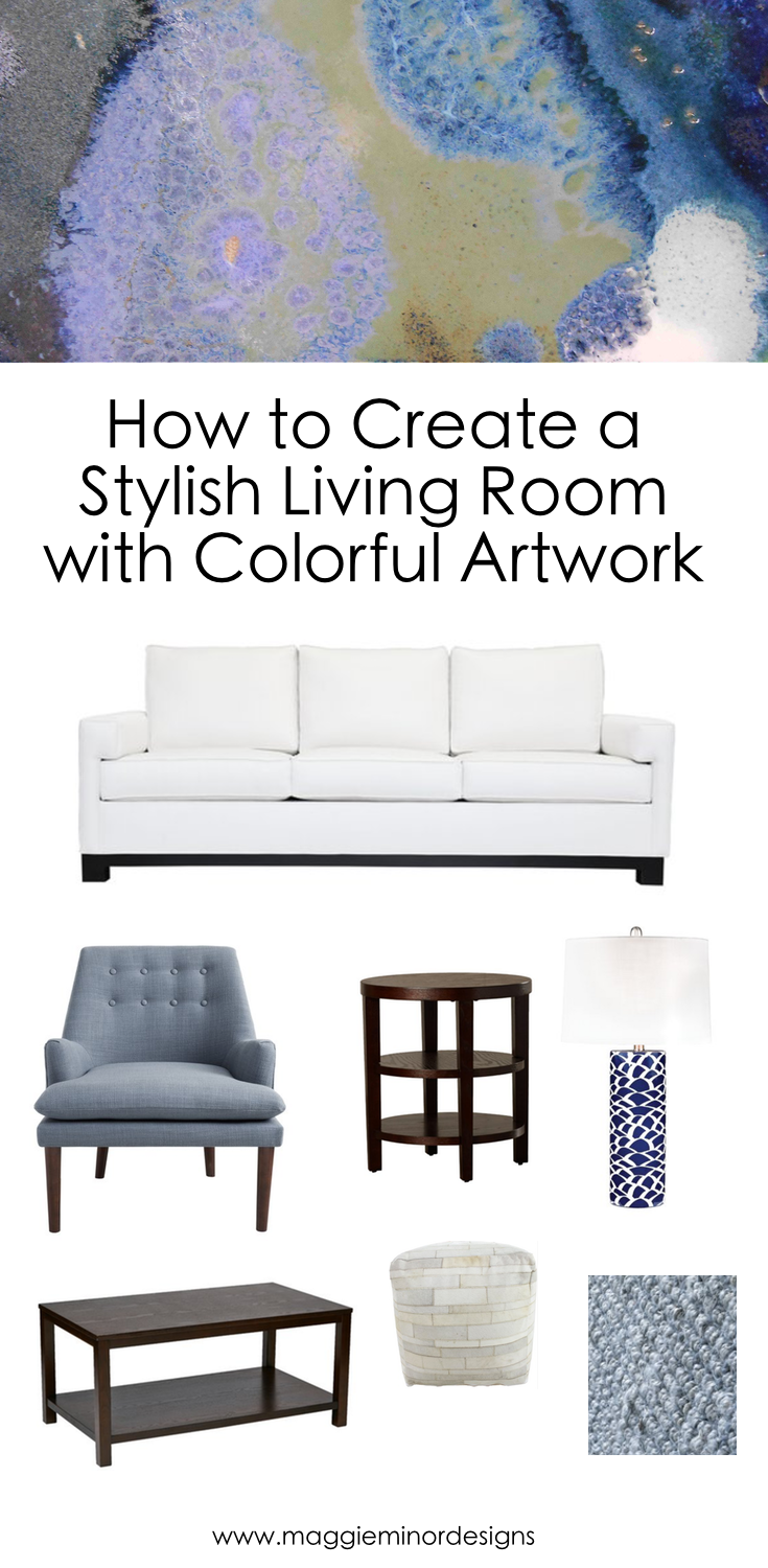 How to Create a Stylish Living Room with Colorful Artwork — Maggie ...