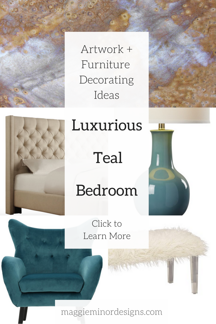 How to Create a Luxurious Beige and Teal Bedroom