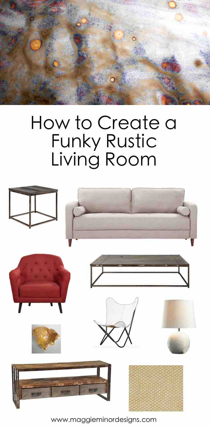 How to Create a Funky Modern Rustic Living Room