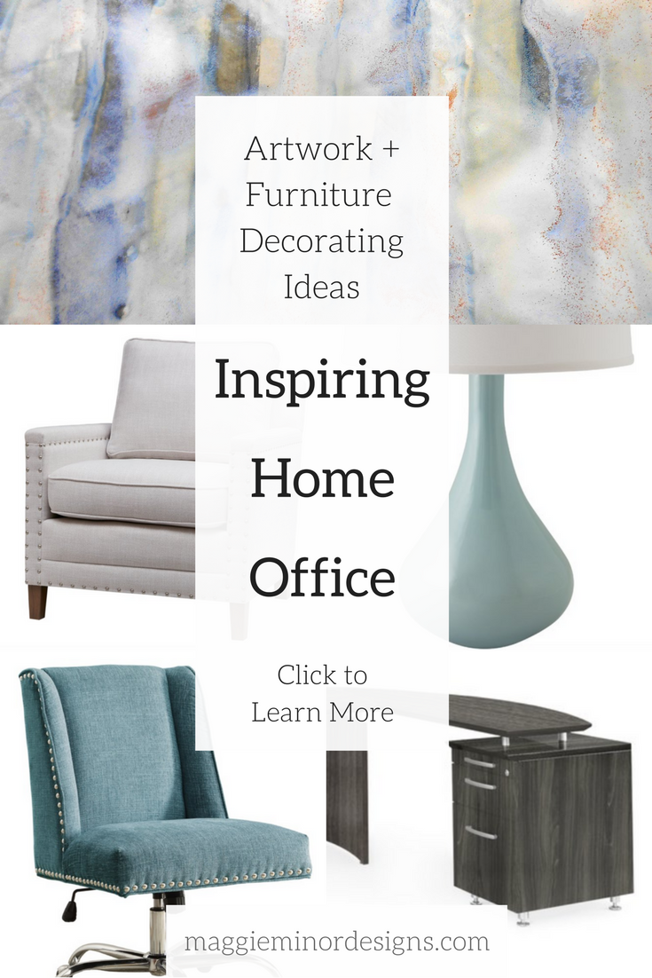 How to Create an Inspiring Grey & Blue Modern Home Office — Maggie ...