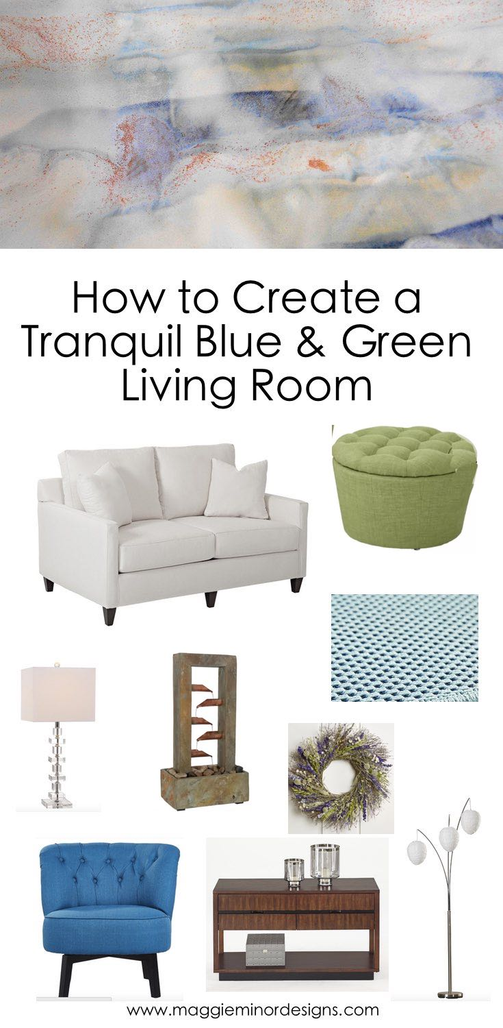 How to Create a Tranquil Blue and Green Living Room for a Small Apartment Pinterest.jpg