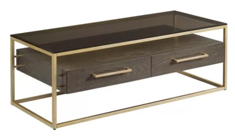 Brown and gold coffee table