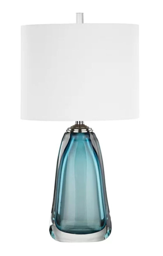 Blue Lamp to Match Multi-Colored Artwork