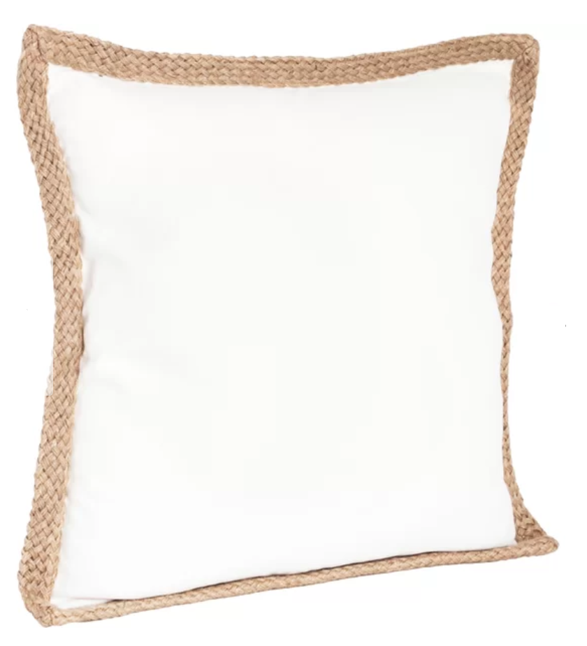 Ivory pillow with texture