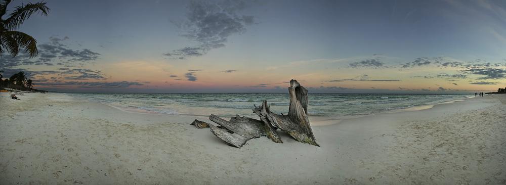 Tulum Sunset Panorama