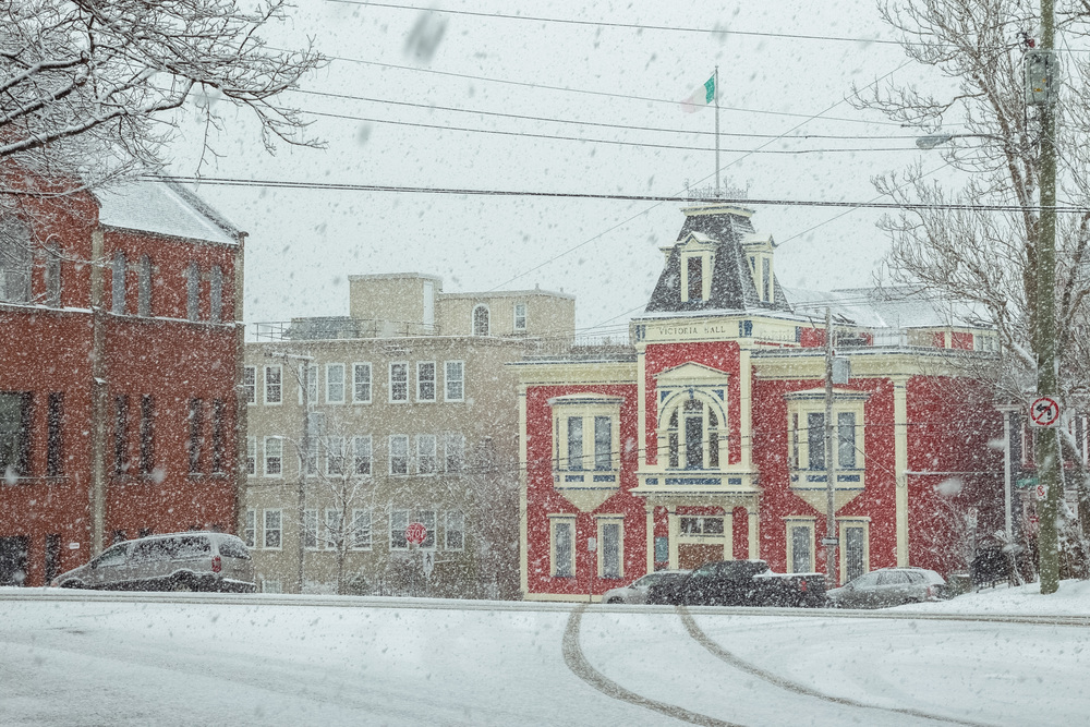 Victoria Hall in all its snowy glory