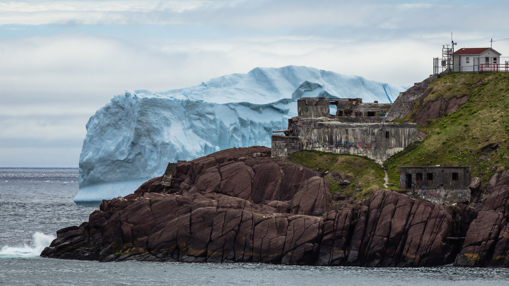 Iceberg Behind Fort Amherst