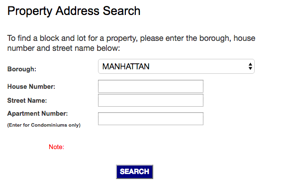 New York City Property Assessment Records