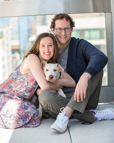 David, Sarah and their pup Caleb
