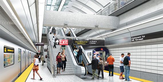 Rendering of the Second Avenue Subway