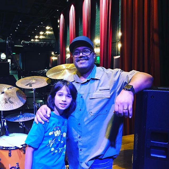 Dylan and one of the greatest drummers of all time Dennis Chambers!