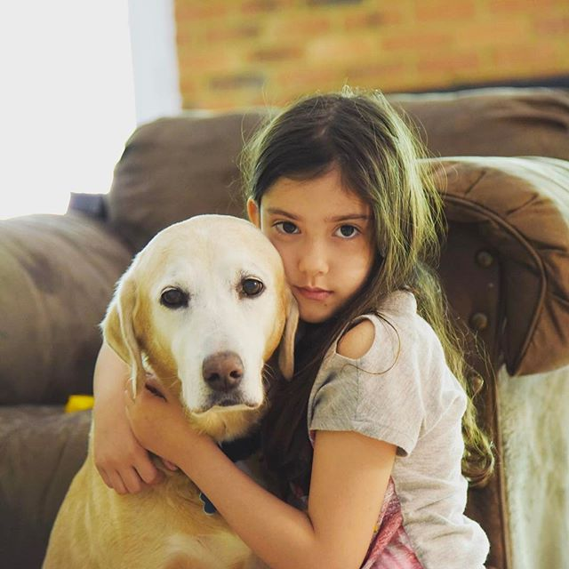 Sweet Lennon and our dog Maddy!