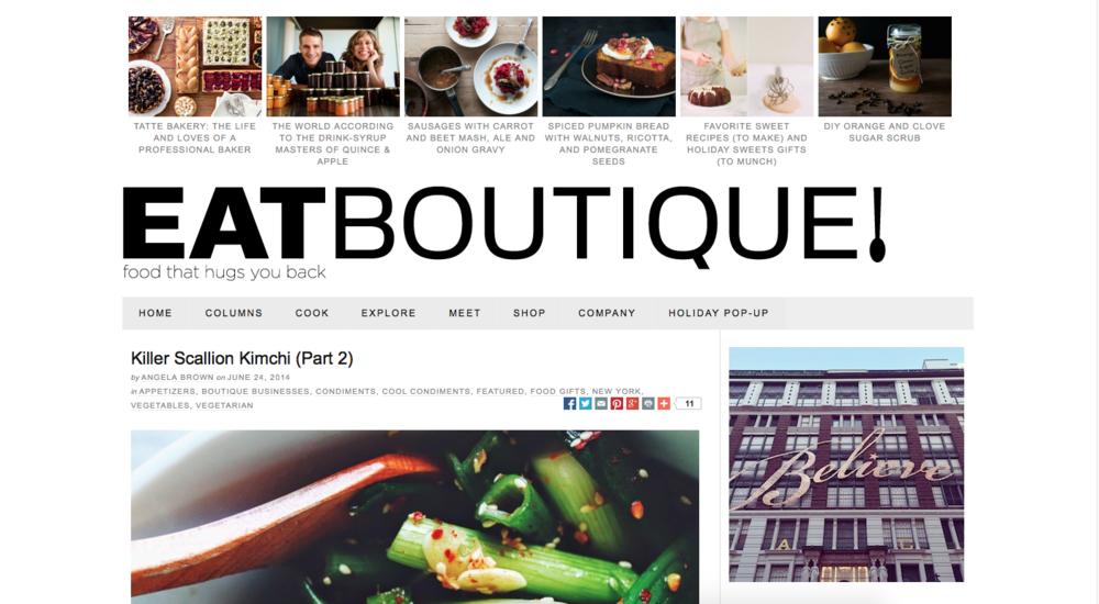 Eat Boutique , June 2014