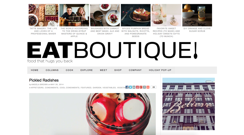 Eat Boutique , May 2014