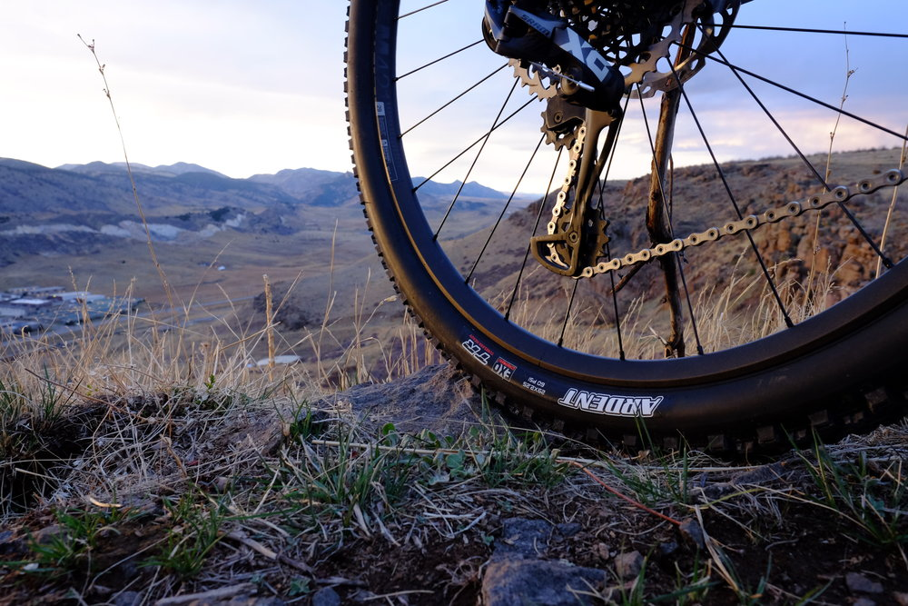 429 Trail - Rear Tire - North Table Mountain, Golden, CO.
