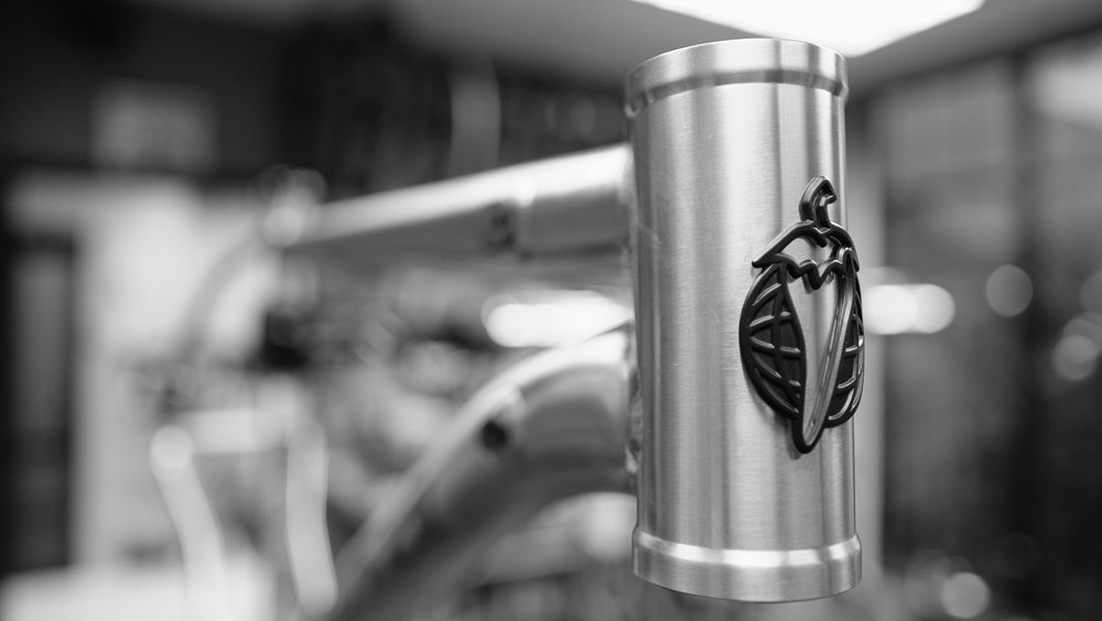 A big head tube accepts modern suspension forks - including the new Rockshox Pike.