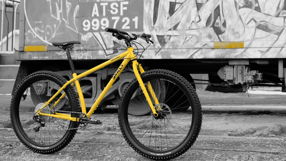"""Surly Karate Monkey - Geared - Stock Build 